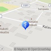 Kartta Lohjan kaupunki palvelukoti Kaisankallio Sammatti, Suomi
