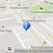 Kartta Fysioterapia Jarno Pullinen Tampere, Suomi
