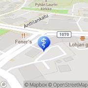 Kartta PlusTerveys Lohjanhammas Lohja, Suomi