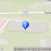 Kartta Jorvin sairaala Espoo, Suomi