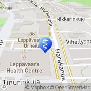 Kartta Espoon kaupunki sosiaali- ja terveystoimi Leppävaaran sosiaali- ja terveyskeskus Espoo, Suomi