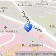 Kartta HUS koulutus- ja kehittämisryhmä Helsinki, Suomi
