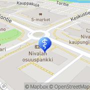Kartta PlusTerveys Oy Hammaslääkärit Nivala, Suomi