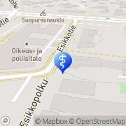 Kartta Vantaan kaupunki Veturipolun päiväkeskus Vantaa, Suomi