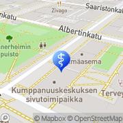 Kartta AIDS Tukikeskus Oulu, Suomi