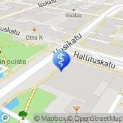Kartta Pirttinen Pertti Gallerian Hammaslääkärit Oulu, Suomi