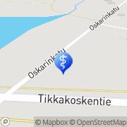 Kartta Fysioterapeutti Anita Meuronen Tikkakoski, Suomi