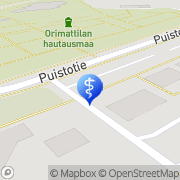 Kartta Orimattilan kaupunki hoitokoti Oloneuvos Orimattila, Suomi