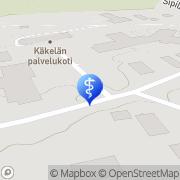Kartta Käkelän palvelukeskus Orimattila, Suomi