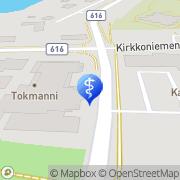 Kartta Fysikaalinen Hoitolaitos Kangasniemen Fysica Ay Kangasniemi, Suomi