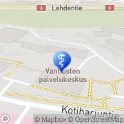 Kartta Kouvolan kaupunki Kotiharjun palvelukeskus Kouvola, Suomi