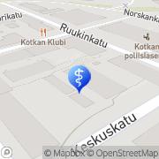 Kartta Kotkan Työterveys Oy Kotka, Suomi