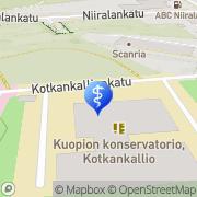 Kartta Kuopion psykiatrian keskus Kuopio, Suomi