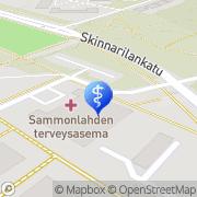 Kartta Sammonlahden terveysasema Lappeenranta, Suomi