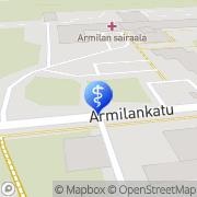 Kartta Lappeenrannan kaupunki Terveyskeskuksen sairaala Armilan osastot Lappeenranta, Suomi