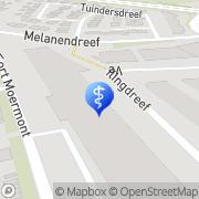 Kaart Residentie Moermont Bergen op Zoom, Nederland