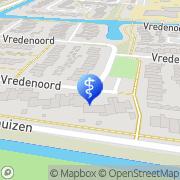 Kaart Logopediepraktijk Jolanda de Wit Heiloo, Nederland