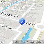 Kaart Vaccinatiepunt Akersloot, Nederland