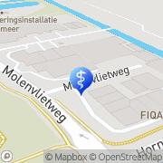 Kaart Aalsmeerse Praktijk voor Fysiotherapie Aalsmeer, Nederland