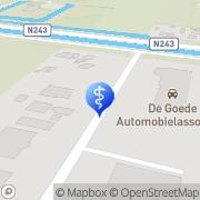 Kaart Brouwer Podopraktijk Cobie Stompetoren, Nederland