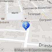 Kaart Oog + Oor Zorgcentrum Noordwest Veluwe Nunspeet, Nederland