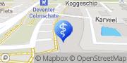 Kaart Dental Clinics Colmschate Colmschate, Nederland