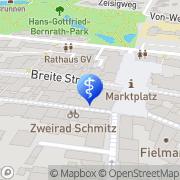 Karte Carla Lenz Zahnärztin Grevenbroich, Deutschland