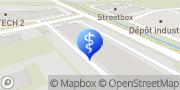 Carte de Proxilab analyses médicales SA Yverdon-les-Bains, Suisse