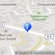Karte Praxis für Osteopathie Maria Baumann Pulheim, Deutschland