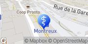 Carte de Quai Santé SA Montreux, Suisse