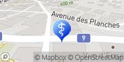 Carte de Centre Médico-social de Montreux-Clarens Montreux, Suisse