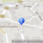 Karte Privatpraxis für Osteopathie & Physiotherapie Kellner & Schulze GbR Haan, Deutschland