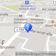 Karte Pflegeteam Regenbogen GmbH Dortmund, Deutschland