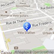 Carte de SOS Ambulance Strasbourg, France