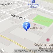 Kort AudioNova Hørecenter Ringkøbing, Danmark
