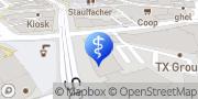 Karte Praxis am Stauffacher für Psychiatrie Zürich, Schweiz