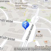 Karte Physiotherapie Kalchbühl Zürich, Schweiz