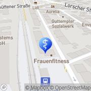 Karte Corina Kroneisen Praxis für Physiotherapie u. Frankfurt am Main, Deutschland