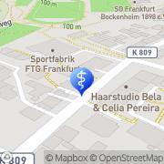 Karte Wittmiss Zahnarzt Frankfurt am Main, Deutschland