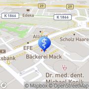 Karte Dr. med. T. Kommerell Arzt für HNO Weinstadt-Endersbach, Deutschland