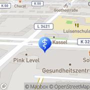 Karte REHA - Zentrum im Klinikum Kassel GmbH Kassel, Deutschland