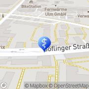 Karte Internistische Gemeinschaftspraxis Dres. med. Jörg Mangold und Wolfgang Böck Ulm, Deutschland