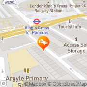 Map Alhambra Hotel London, United Kingdom