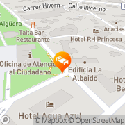 Map Apartamentos Michel Angelo Benidorm, Spain