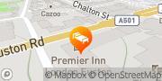 Map Premier Inn London Euston London, United Kingdom