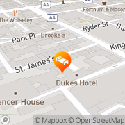Map Dukes Hotel London, United Kingdom