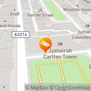 Map Jumeirah Carlton Tower London, United Kingdom