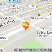 Map Orchard Hotel Paddington London, United Kingdom