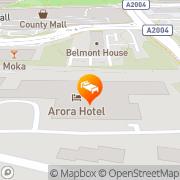 Map Arora Hotel Gatwick/Crawley Crawley, United Kingdom