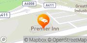 Map Premier Inn Watford Central Watford, United Kingdom